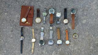Lote de 14 relojes antiguos