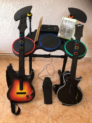 Bateria y Guitarras XBOX 360