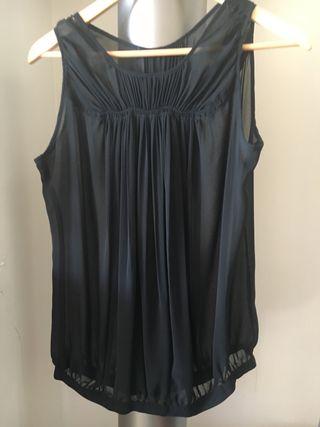 Blusa negra transparente de Zara T m