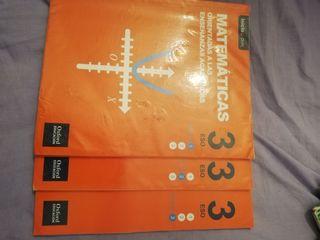 Libros matemáticas 3°ESO Oxford education