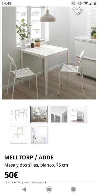 Mesa + Sillas Ikea