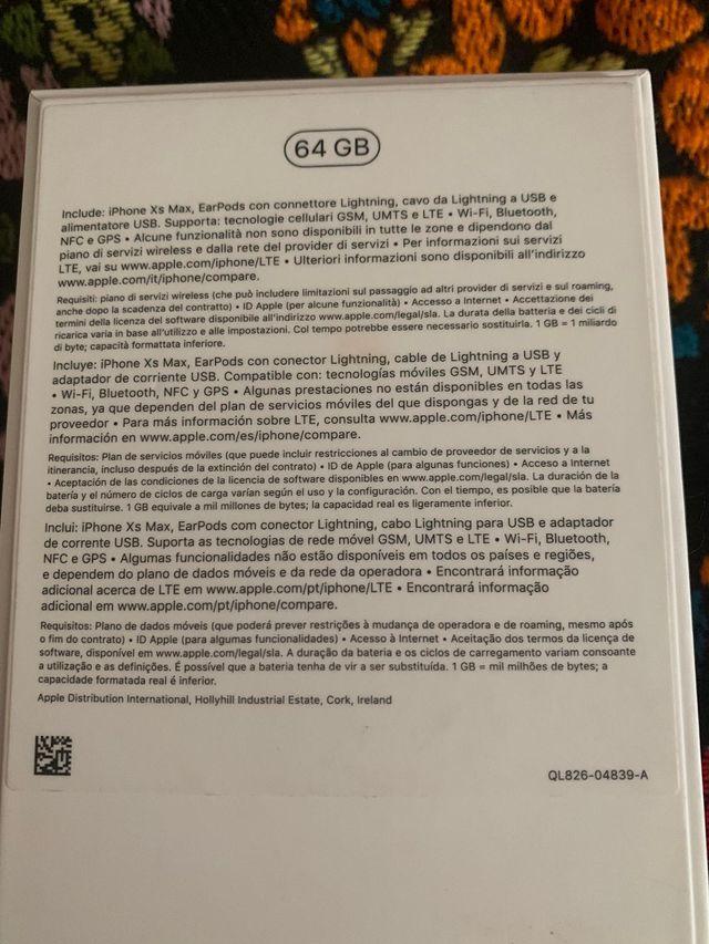 IPHONE XS MAX DORADO 64GB NUEVO