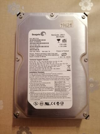 "Disco duro 3,5"" 250GB IDE"