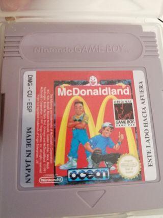 juego de Macdonald para game boy