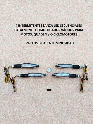 4 Intermitentes led lanza dinámicos homologados