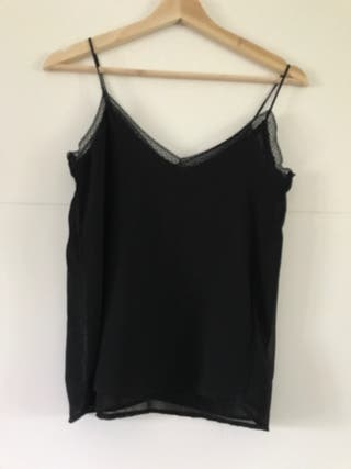 Blusa lencera negra Zara