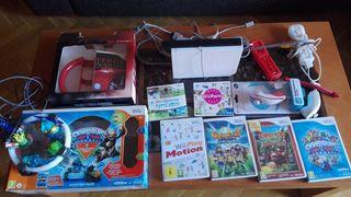 Nintendo Wii con mandos y 7 juegos
