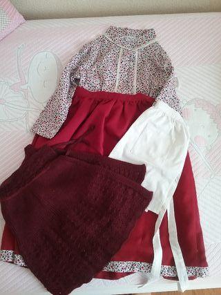 vestido de casera niña