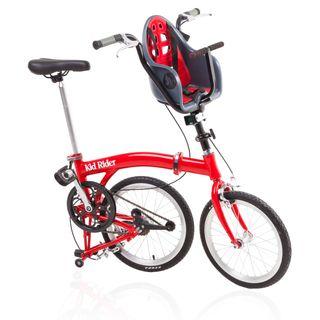 Bicicleta plegable con silla infantil homologada