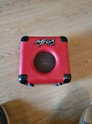 mini amplificador de guitarra