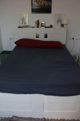 Cama doble con cabecera + colchón