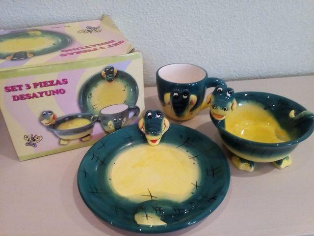 Set vajilla de desayuno infantil 3 piezas