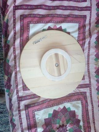 peana madera rotatoria