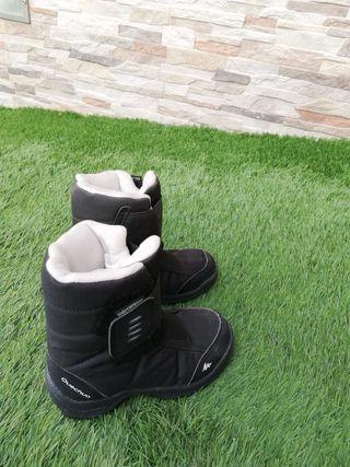 botas nieve niño num. 26