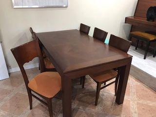 Mesa comedor más 6 sillas .
