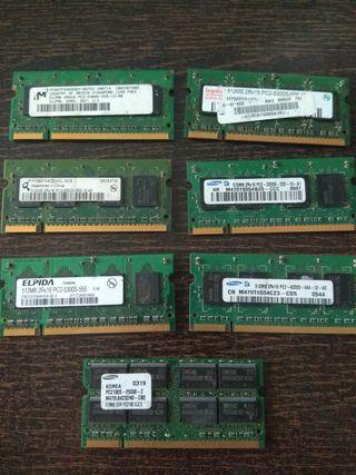 Memorias Ram para portátil