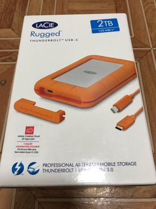 LaCie Rugged con Thunderbolt y USB-C de 2TB