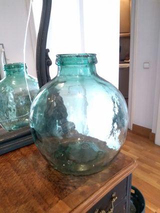 Damajuana o garrafa antigua auténtica