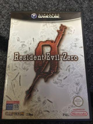 Caja resident evil zero gamecube