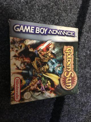 Caja Golden Sun Game Boy Advance