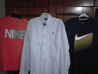 camisa LA JACA y dos camisetas nike