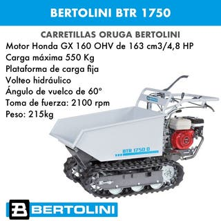 Transporter Bertolini BTR 1750 Dumper (carretilla