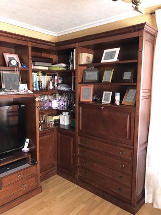 Mueble salón de madera maciza