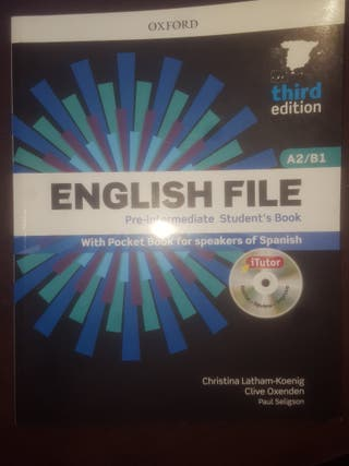 Libros de Ingles English File A2/B1