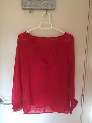 Blusa Roja Plumeti