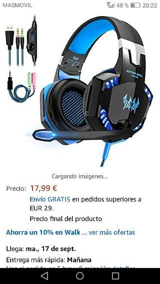 auriculares gaming para pc.