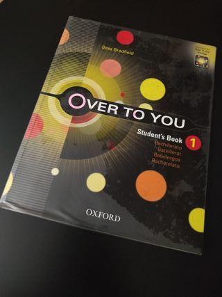 """LIBRO de ingles """"Over to you"""" OXFORD 1° de BACH"""