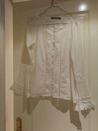 blusa de algodón Zara talla xs