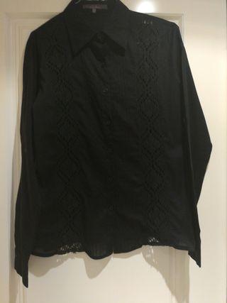 blusa negra de Zara talla m