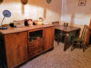 comedor mesa madera cuadrada aprox. 1,20 vintage