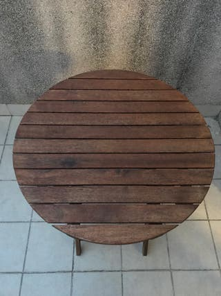 Mesa redonda de teka