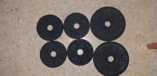 pesas y barra