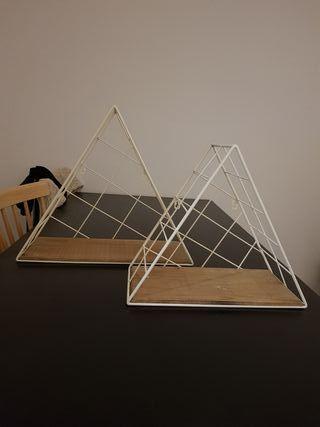 estantes triangulo