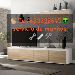 Manitas. soportes TV.