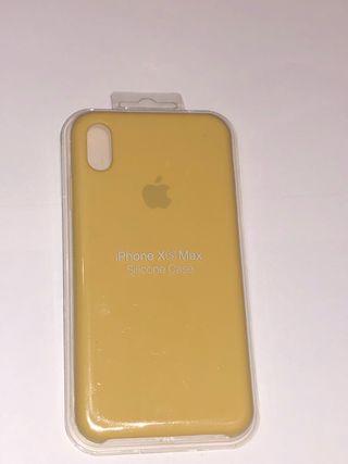 funda iphone x amarillo pastel