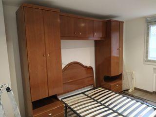 mueble puente dormitorio y cabecero de cama