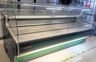 vitrina charcutera 2500mm comersa cristal curvo