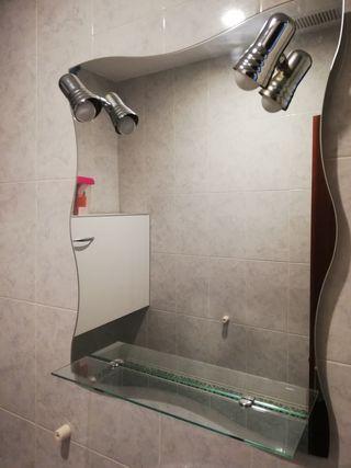 espejo baño con bombillas led