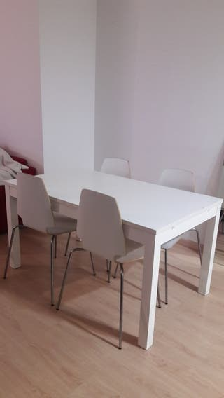 Mesa comedor abatible+4 sillas