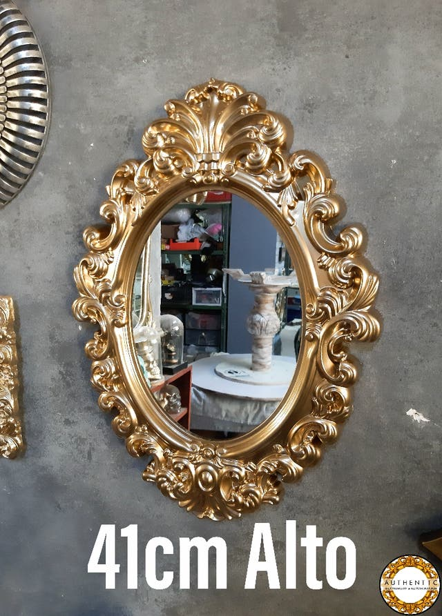Espejo Barroco Oro 41cm Alto