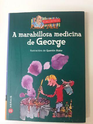"Libro en gallego ""A marabillosa medicina de George"