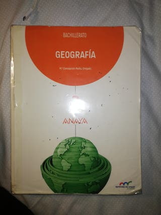 Libro 2 bachillerato geográfica editorial ANAYA