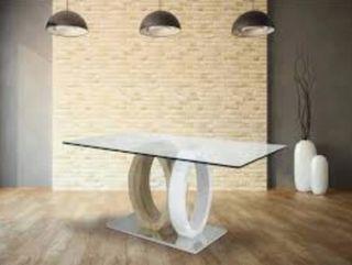 mesa cristal comedor diseño