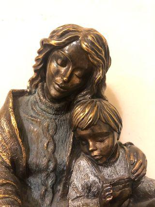 Figura bronce Madre y niño