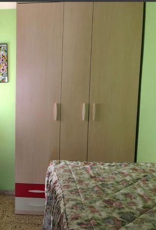 armario juvenil con cama con cajones
