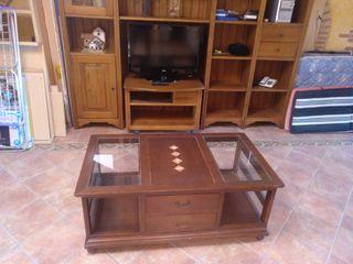 Mueble de salón y mesa salón castellano